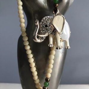 necklace Elephant motif Pearl / Beads Pendant